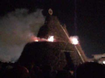 La Fòcara mondiale dedicata a Pina Sorrenti devota a Sant'antonio Abate del fuoco