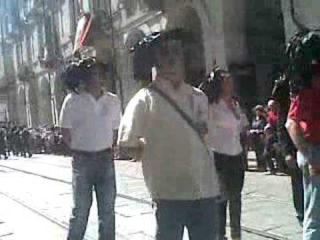 Ersilio sfila a Torino durante il centocinquantesimo dell'Unità d'Italia con la Fanfara dei Bersaglieri di Orsara Foggia Puglia